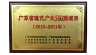 广东省现代产业500强项目