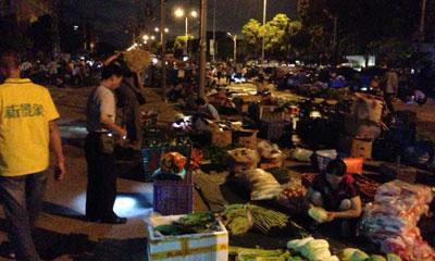 珠海十四洲蔬菜批发夜市走访、推广、宣传