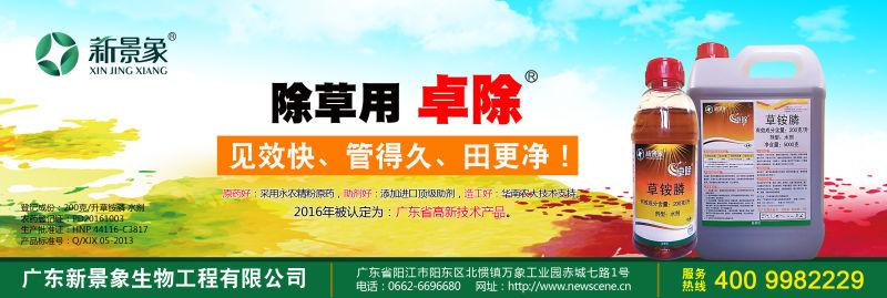 烯啶虫胺水剂、草铵膦水剂通过了2016年广东省高新技术产品认定